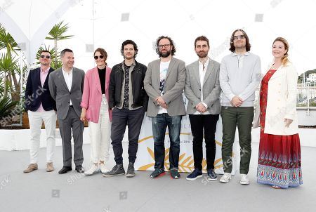 Composer Rich Vreeland, film editor Julio Perez IV, director David Robert Mitchell,  cinematographer Mike Gioulakis and other crew members pose during the photocall for 'Under the Silver Lake' at the 71st annual Cannes Film Festival, in Cannes, France, 16 May 2018. The movie is presented in the Official Competition of the festival which runs from 08 to 19 May.