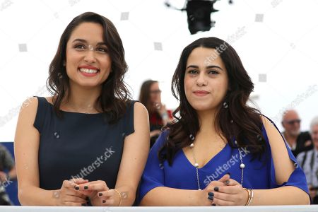 Sarah Perles, Maha Alemi. Actresses Sarah Perles, left, and Maha Alemi pose for photographers during a photo call for the film 'Sofia' at the 71st international film festival, Cannes, southern France
