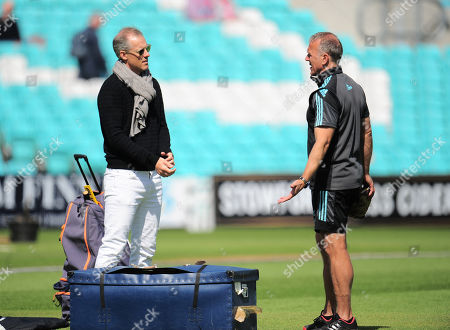 Chief National Selector Ed Smith talks to Surrey Director of Cricket Alec Stewart