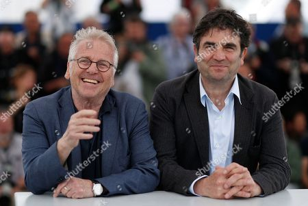 French director Romain Goupil and Daniel Cohn-Bendit pose during the photocall for 'La Traversee' at the 71st annual Cannes Film Festival, in Cannes, France, 16 May 2018. The movie is presented in the section Special Screenings of the festival which runs from 08 to 19 May.