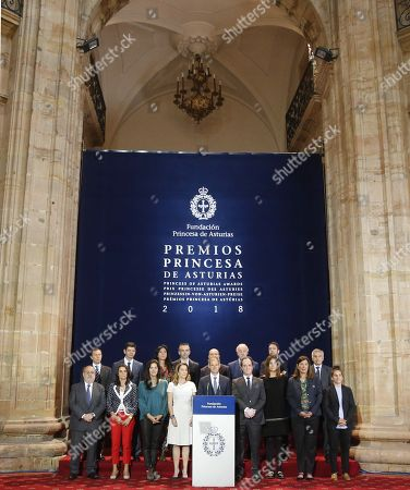 Princess of Asturias Award for Sports' pannel announces that Italian mountaineer Reinhold Messner (unseen) and Polish climber Krzysztof Wielicki (unseen) won the prize during a press conference held in Oviedo, northern Spain, 16 May 2018. The pannel want to award the 'great values that climbing transmits'. Messner is considered to be the best climber of all time and Wielicki was the first mountaineer who reached the Everest's summit in winter.