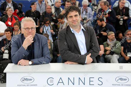 Stock Photo of Director Daniel Cohn-Bendit and Romain Goupil