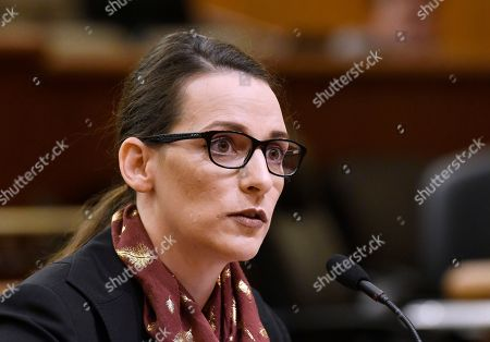 Legislative leaders interview Jennifer P. Stergion for the Office of New York Attorney General, in Albany, N.Y. after former Attorney General Eric Schneiderman resigned amid domestic abuse allegations