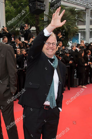 Daniel Cohn-Bendit poses for photographers upon arrival at the premiere of the film 'Burning' at the 71st international film festival, Cannes, southern France