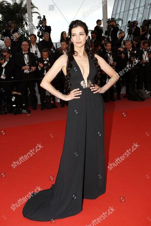 Antigone Kouloukakos arrives for the screening of 'Burning' during the 71st annual Cannes Film Festival, in Cannes, France, 16 May 2018. The movie is presented in the Official Competition of the festival which runs from 08 to 19 May.