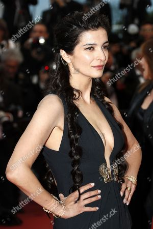 Stock Image of Antigone Kouloukakos arrives for the screening of 'Burning' during the 71st annual Cannes Film Festival, in Cannes, France, 16 May 2018. The movie is presented in the Official Competition of the festival which runs from 08 to 19 May.