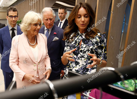 Britain's Prince Charles and Camilla Duchess of Cornwall, tour the new Tech Hub, with Chief Executive of Yoox Net-a-Porter Group Federico Marchetti and Alison Loehnis, President of Net-a-Porter, at the Yoox Net-a-Porter Group offices in west London