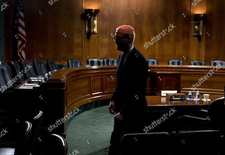 Christopher Wylie leave after he testify before the Senate Judiciary Committee on Cambridge Analytica at Capitol Hill, in Washington