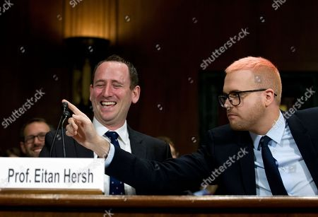 Christopher Wylie, Eitan Hersh. Christopher Wylie, right, accompanied by Prof. Eitan Hersh testify during a hearing before the Senate Judiciary Committee on Cambridge Analytica at Capitol Hill, in Washington