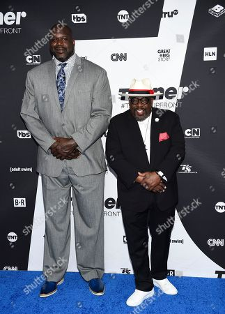 Shaquille O'Neal, Cedric Kyles. Shaquille O'Neal, left, and Cedric The Entertainment pose together at the Turner Networks 2018 Upfront at One Penn Plaza, in New York