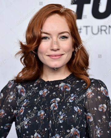 Maria Thayer attends the Turner Networks 2018 Upfront at One Penn Plaza, in New York
