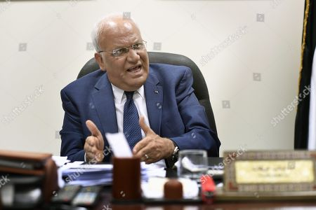 Saeb Erekat, Palestinian peace negotiator and secretary general of the Palestine Liberation Organization