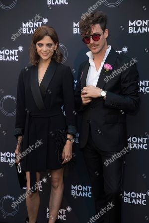 Macarena Gomez, Aldo Comas. Macarena Gomez and Aldo Comas pose for photographers upon arrival at the Montblanc dinner during the 71st international film festival, Cannes, southern France