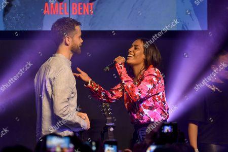 Amel Bent and Emmanuel Moire