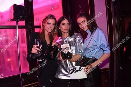 Stock Picture of Marie Chenal, Azza Slimene, Charlotte Richard