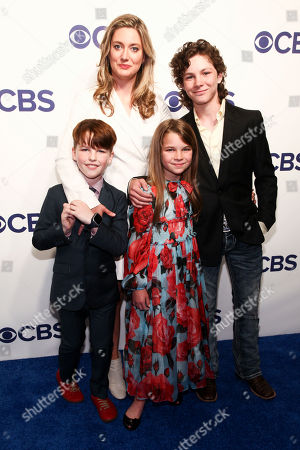 Ian Armitage, Zoe Perry, Raegan Revord, Montana Jordan. Ian Armitage, from left, Zoe Perry, Raegan Revord and Montana Jordan attend the CBS Network 2018 Upfront at The Plaza Hotel, in New York