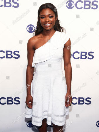 Ebonee Noel attends the CBS Network 2018 Upfront at The Plaza Hotel, in New York