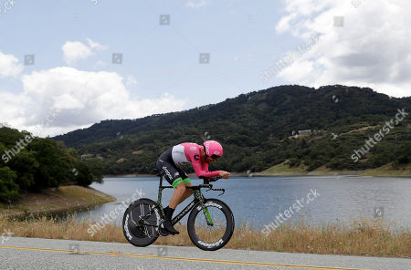 Taylor Phinney rides during Stage 4, the individual time trial, of the Tour of California cycling race, in Morgan Hill, Calif