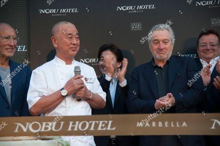 Stock Picture of Nobuyuki Matsuhisa, Robert De Niro and guests