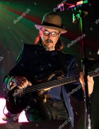 Les Claypool, of Primus, performs onstage at the Fox Theatre, on Wednesday, May, 16, 2018, in Atlanta