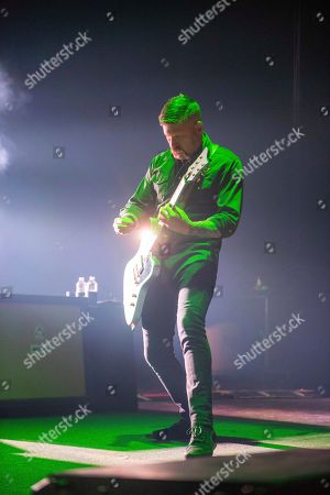 Stock Photo of Bill Kelliher, of Mastodon, performs on stage at the Fox Theatre, on Wednesday, May, 16th, 2018, in Atlanta