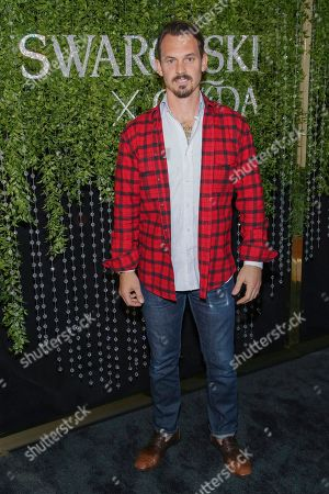 Nominee Kristopher Brock attends the Swarovski and CFDA 2018 emerging talent award nominees celebration at Dumbo House, in New York