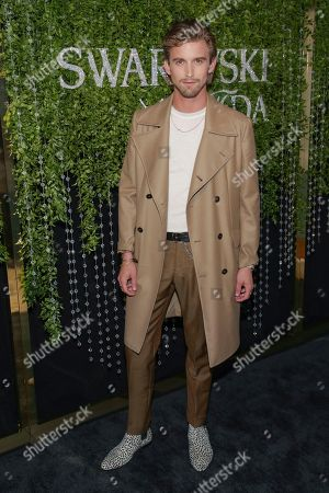 RJ King attends the Swarovski and CFDA 2018 emerging talent award nominees celebration at Dumbo House, in New York
