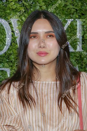 Dylana Suarez attends the Swarovski and CFDA 2018 emerging talent award nominees celebration at Dumbo House, in New York