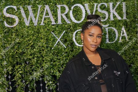 Zuri Marley attends the Swarovski and CFDA 2018 emerging talent award nominees celebration at Dumbo House, in New York