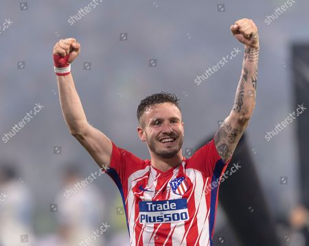 Stock Image of Saul Niguez Esclapez of Atletico de Madrid