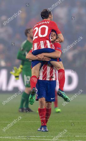 Juanfran and and Koke Jorge Resurreccion Merodio of Atletico de Madrid