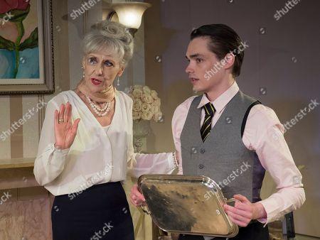 Anita Dobson as Eleanor, Oliver Greenall as Waiter,