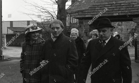 Ep 520 Thursday 19th April 1979 The village gather for the Easter service at the church - With Henry Wilks, as played by Arthur Pentelow ; Dolly Acaster, as played by Katharine Barker ; Matt Skilbeck, as played by Frederick Pyne.