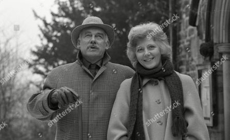Ep 511 Tuesday 20th March 1979 Henry bumps into Simon's mum, Irene, outside The Woolpack and shows an interest in her. He discovers she's moving to Demdyke Row rather than Simon. He gives her a whiskey on the house and makes an effort to chat to her - With Henry Wilks, as played by Arthur Pentelow ; Irene, as played by Kathleen Byron.