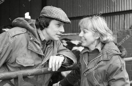 Stock Image of Ep 498 Thursday 1st February 1979 With Joe Sugden, as played by Frazer Hines ; Kitty Lennard, as played by Katherine Iddon.