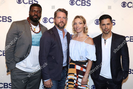 Editorial photo of CBS Upfront Presentation, Arrivals, New York, USA - 16 May 2018