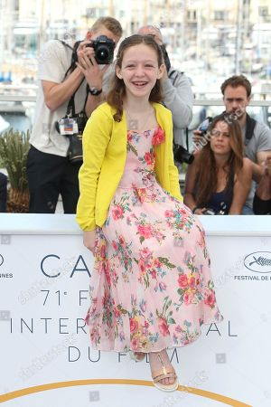 Actress Alida Baldari Calabria poses for photographers during a photo call for the film 'Dogman' at the 71st international film festival, Cannes, southern France