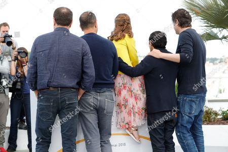 Edoardo Pesce, Marcello Fonte, Alida Baldari Calabria, director Matteo Garrone and Francesco Acquaroli