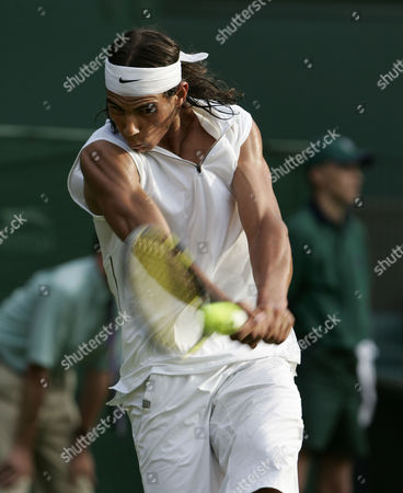 Rafael Nadal Wimbledon Championship Tennis Day Two 21/06/2005 Rafael Nadal V Vince Spadea (nadal Won 6-4 6-3 6-0)
