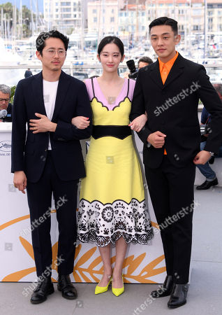 Steven Yeun, Jong-seo Jeon and Ah-in Yoo