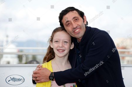 Italian actor Macello Fonte (L) and Italian actress Alida Baldari Calabria pose  during the photocall for 'Dogman' at the 71st annual Cannes Film Festival, in Cannes, France, 17 May 2018. The movie is presented in the Official Competition of the festival which runs from 08 to 19 May.