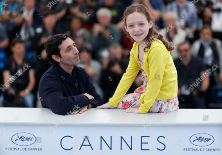 Stock Picture of Italian actress Alida Baldari Calabria (R) and Italian actor Macello Fonte pose during the photocall for 'Dogman' at the 71st annual Cannes Film Festival, in Cannes, France, 17 May 2018. The movie is presented in the Official Competition of the festival which runs from 08 to 19 May.