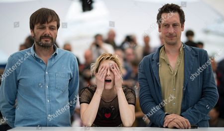 (L-R) German director Ulrich Kohler, Italian actress Elena Radonicich and German actor Hans Low pose during the photocall for 'In My Room' at the 71st annual Cannes Film Festival, in Cannes, France, 17 May 2018. The movie is presented in the section Un Certain Regard of the festival which runs from 08 to 19 May.
