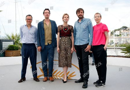 (L-R) Producer Christoph Friedel, actor Hans Low, actress Elena Radonicich, director Ulrich Kohler and producer Claudia Steffen pose during the photocall for 'In My Room' at the 71st annual Cannes Film Festival, in Cannes, France, 17 May 2018. The movie is presented in the section Un Certain Regard of the festival which runs from 08 to 19 May.