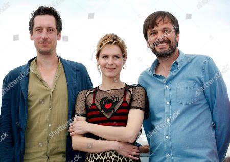 (R-L) German director Ulrich Kohler, Italian actress Elena Radonicich and German actor Hans Low pose during the photocall for 'In My Room' at the 71st annual Cannes Film Festival, in Cannes, France, 17 May 2018. The movie is presented in the section Un Certain Regard of the festival which runs from 08 to 19 May.