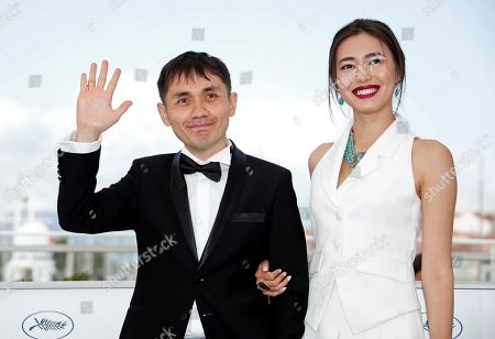 Director Adilkhan Yerzhanov (L) and actress Dinara Baktybayeva pose during the photocall for 'The Gentle Indifference of the World' at the 71st annual Cannes Film Festival, in Cannes, France, 17 May 2018. The movie is presented in the section Un Certain Regard of the festival which runs from 08 to 19 May.