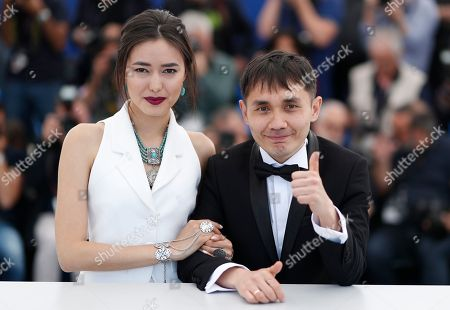 Director Adilkhan Yerzhanov (R) and actress Dinara Baktybayeva pose during the photocall for 'The Gentle Indifference of the World' at the 71st annual Cannes Film Festival, in Cannes, France, 17 May 2018. The movie is presented in the section Un Certain Regard of the festival which runs from 08 to 19 May.