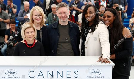Producer Nicole David, producer Lisa Erspamer, director Kevin Macdonald, producer Pat Houston and producer Rayah Houston pose during the photocall for 'Whitney' at the 71st annual Cannes Film Festival, in Cannes, France, 17 May 2018. The movie is presented in the section Special Screenings of the festival which runs from 08 to 19 May.