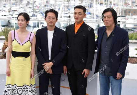 Steven Yeun, Jong-seo Jeon, Ah-in Yoo and Chang-dong Lee