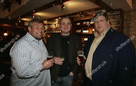 Evening Standard Pub And Bar Of The Year Judges L-r: Jason Leonard Al Murray And Charles Campion.